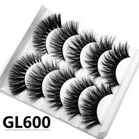 3D false eyelashes 5 pairs of hand made chemical fibers false eyelashes with thick cross enlarged eyes