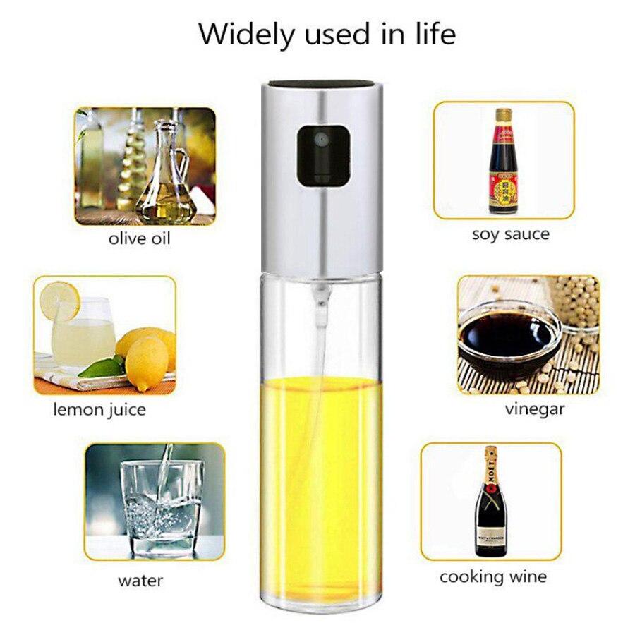 Kitchen Cook Oil Spray Empty Bottle Baking Olive Oil Spray Bottle Vinegar Bottle Oil Dispenser Cooking