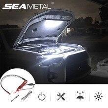 Pod kapturem zestawy oświetleniowe LED 14 Cal wodoodporna lampa Bar do pokrywy kaptura automatyczne włączanie/wyłączanie diody na wstążce LED uniwersalne dopasowanie do większość samochodów