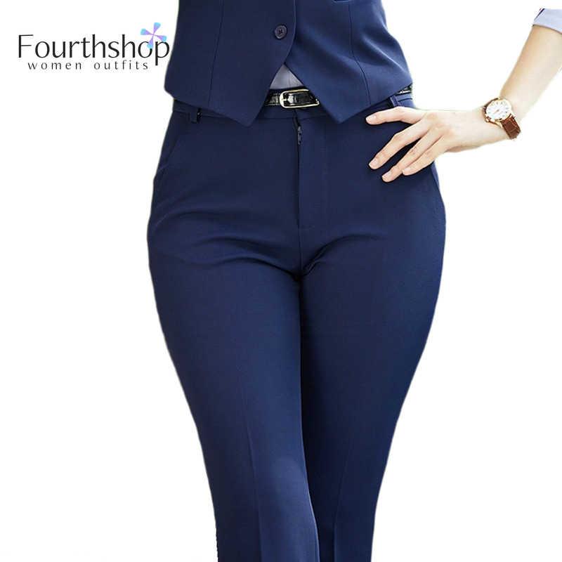 Pantalones Formales A La Moda Para Mujer Ropa De Trabajo De Negocios Pantalon Largo De Oficina Para Mujer Pantalones De Talla Grande 4xl Xxxl Para Mujer Otono E Invierno 2020 Pantalones Y Pantalones