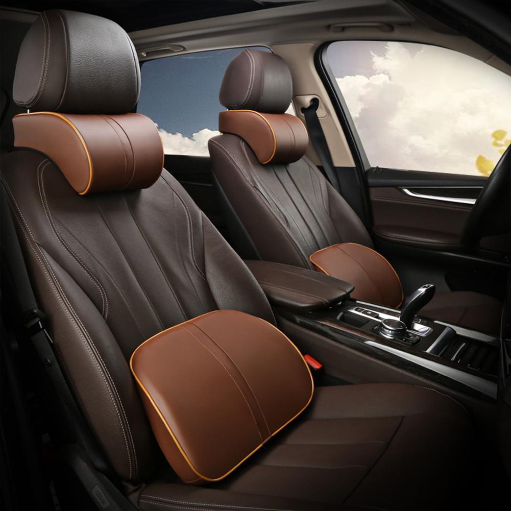 Car Memory Foam Travel Comfortable Neck Headrest Pillow Lumbar Support Cushion 2019