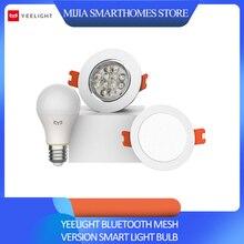 Xiao mi jia yeelight bluetooth mesh versão inteligente lâmpada e downlight, trabalho de holofotes com yeelight gateway para mi casa app