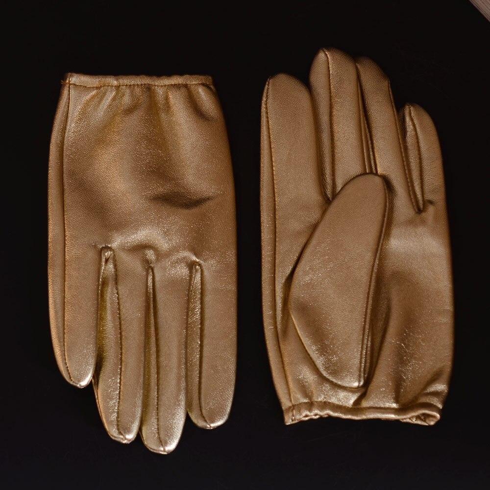 US-Men/'s 100/% Real Leather Goat Skin shrink Wrist Police Tactical Short GLOVES