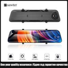 Buy 12-inch car camera full-screen touch Car DVR rearview mirror streaming media 170� large wide-angle dual lens 2K HD night vision directly from merchant!