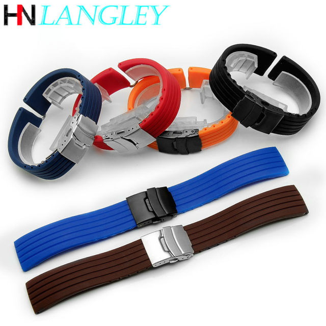20mm 22mm Quick Release Silicone Watch Bands For Samsung Active 43mm 47mm for Fossil Watch Strap 18mm 24mm Rubber Sport Bands 2