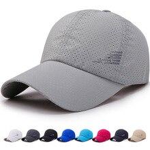 New Men Women  Summer Baseball Cap  Quick Drying  Hats Unisex Breathable Sport  Pure Color Snapback Hat bone baseball hat