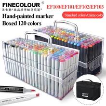 Finecolour Markers 120 Colors Set Sketch Art Marker Pen Double Tips Alcoholic Pens For Artist Manga Markers Art Supplies School