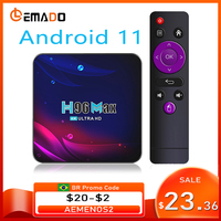 H96 Smart TV Box Android 11 4K Hd Youtube Google Spielen 5G Wifi Bluetooth Empfänger Media Player HDR USB 3,0 4G 32Gb 64Gb Tv Box