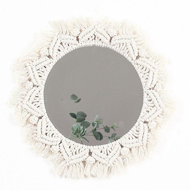 Boho Style Macrame Wall Mirror 6