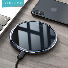 Bezprzewodowa ładowarka KUULAA 15W dla iPhone X XS Max XR 8 Plus lustro Qi bezprzewodowa ładowarka do Samsung S9 S10 + uwaga 9 8 tanie tanio Z wskaźnik ładowania Z kablem Z LED światła Micro Usb CN (pochodzenie) Apple iphone For iPhone X For iPhone 8 8 Plus