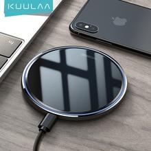 KUULAA 10W צ י אלחוטי מטען עבור iPhone X/XS Max XR 8 בתוספת מראה טעינה אלחוטי Pad עבור סמסונג S9 S10 + הערה 9 8