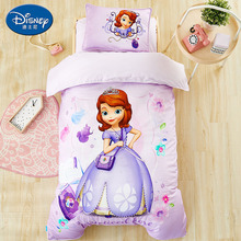 Disney Authentic Bedding Set For Baby Crib bed linen 3pcs set duvet cover bed sheet pillow case for baby. Mickey Mouse bedding 3pcs cotton crib bed linen kit cartoon baby bedding set includes pillowcase bed sheet duvet cover without filler