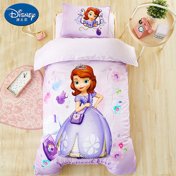 Disney Authentic Bedding Set For Baby Crib bed linen 3pcs set duvet cover bed sheet pillow case for baby. Mickey Mouse bedding