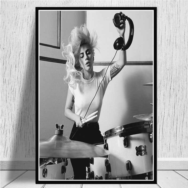 shuimanjinshan Poster Drucke Lady Gaga Popstar Musik S/änger Album Leinwand Poster Drucke Gem/älde Wandkunst Bilder f/ür Wohnzimmer Home Decor 50X70Cm Ungerahmt pc-564