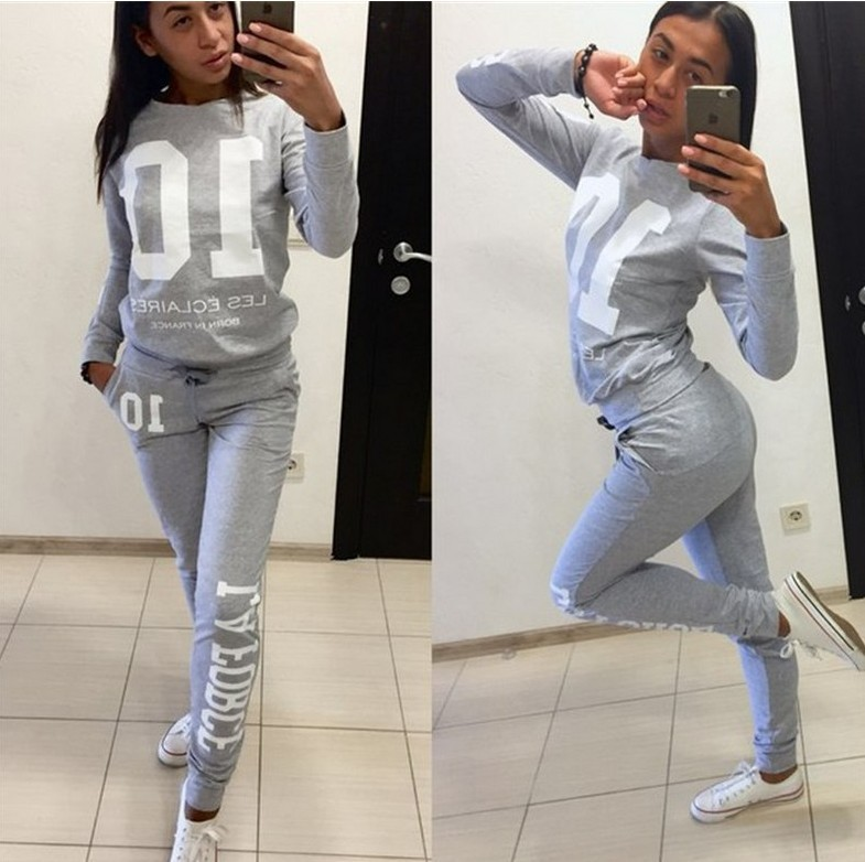 Number 01 2020 New Design Fashion Hot Sale Suit Set Women Tracksuit Two-piece Style Outfit Sweatshirt Sport Wear