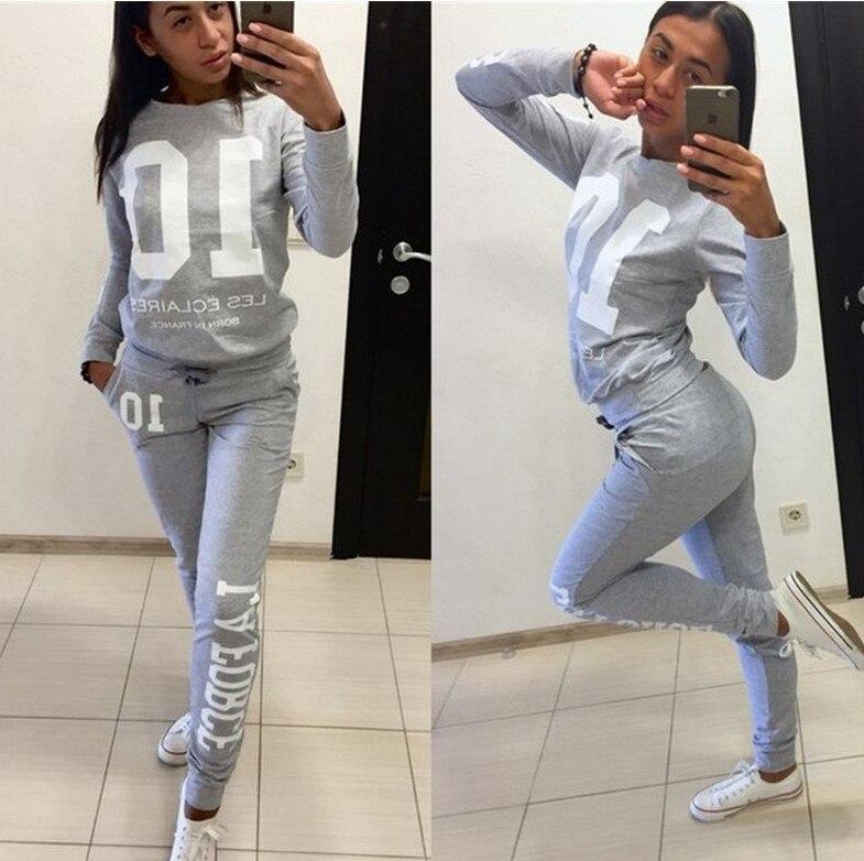 Number 01 2020 New Design Fashion Hot Sale Suit Set Women Tracksuit Two-piece Style Outfit Sweatshirt Sport Wear