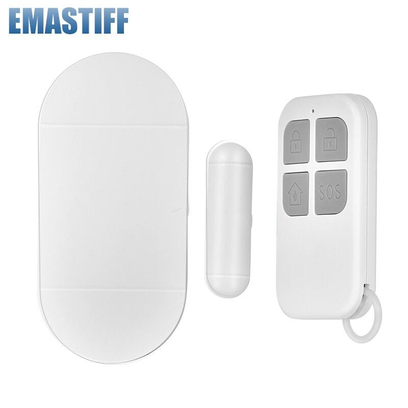 Tür Fenster alarm Eintrag 433mhz Drahtlose Fernbedienung Tür Sensor Alarm Host Einbrecher Sicherheit Alarm System Home Schutz Kit