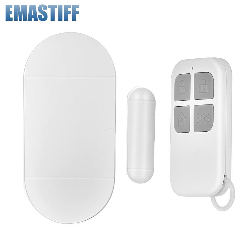 Door Window Entry Alarm 433mhz Wireless Remote Control Door Sensor Alarm Host Burglar Security Alarm System Home Protection Kit