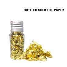 10ml Bottled Edible Gold Foil Sheets Cake Decoratings Tools Facial Mask Nail DIY Art Flakes Gold Leaf Foil Paper Craft Decor(China)