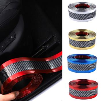 Car Trim Strip Rubber Moulding Strip Rubber For Car Door Pedal Trim Bumper DIY Door Sill Protector Edge Guard image