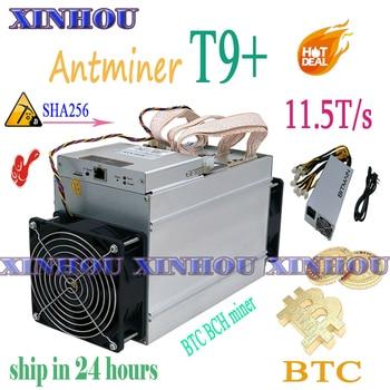 New miner Antminer T9+ 11.5T BTC BCH Asic miner Economic Than antminer S9 S17 T17 S11 S9k T2T T3 M3 M21s Z11 B7 Z11e Z9 E10.1 E9