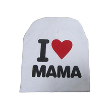 New Spring Autumn Children'S Knitted Warm Cotton Hat For Toddlers, I LOVE PAPA MAMA Print Hats For Little Boys And Girls