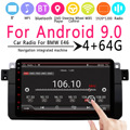 8 inch Car Stereo Radio for Android 9.0 Car Radio 1 Din IPS MP5 Player bluetooth GPS Navi for BMW E46 PX6 4Gb+64Gb RDS WIFI