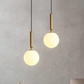 Lampe à suspension moderne luxueux or verre boule abat-jour suspendus luminaires pour salle à manger chambre décoration éclairage