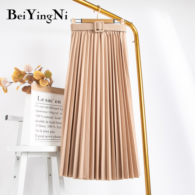 Beiyingni High Waist Women Skirt Casual   6