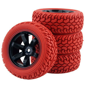 Image 3 - RC 701A 8019 Rubber Tire&Plastic Wheel Rim For HSP HPI 1/16 On Road Rally Car