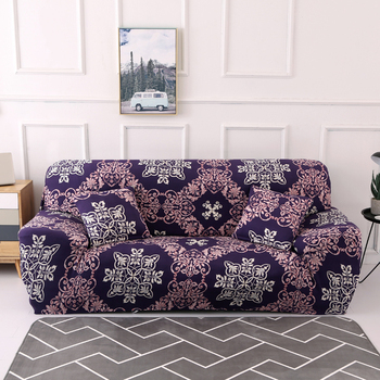 Sofa Covers for Living Room Modern Floral Printed Stretch Sectional Slipcover Polyester L Shape Armchair Couch Case 1/2/3/4 Seat 10