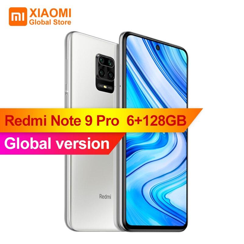 """Versão global xiaomi redmi nota 9 pro 6gb 128gb nfc smartphone 6.67 """"snapdragon 720g 64mp quad câmera 5020mah 30w carregamento rápido"""