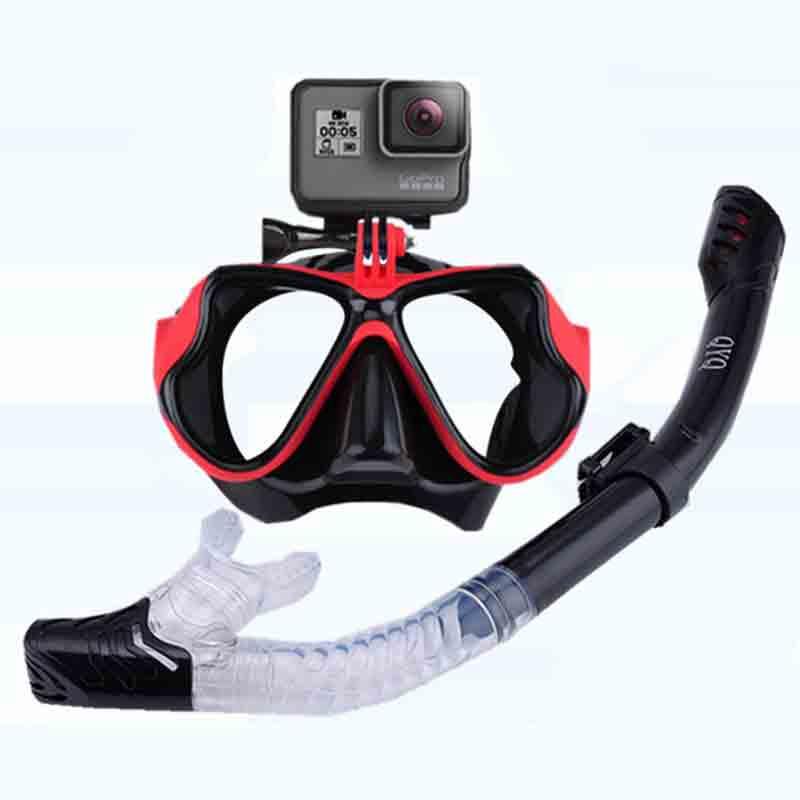 Máscara de Snorkeling Snorkel conjunto de tubo máscara de buceo Anti-niebla natación buceo gafas tubo de Snorkel para cámara de deportes subacuática GoPro
