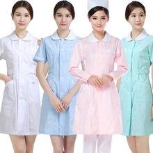 Одежда для медсестер с длинными рукавами красивые костюмы круглым
