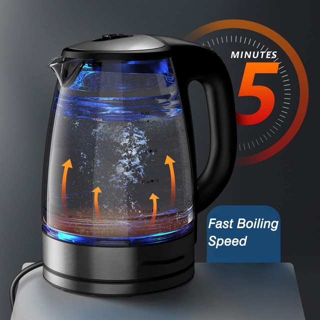 DEVISIB Variable Temperature Electric Kettle 2.0L Glass for Tea Coffee Keep Warm Function Boil-Dry Protection Kitchen Appliances 4