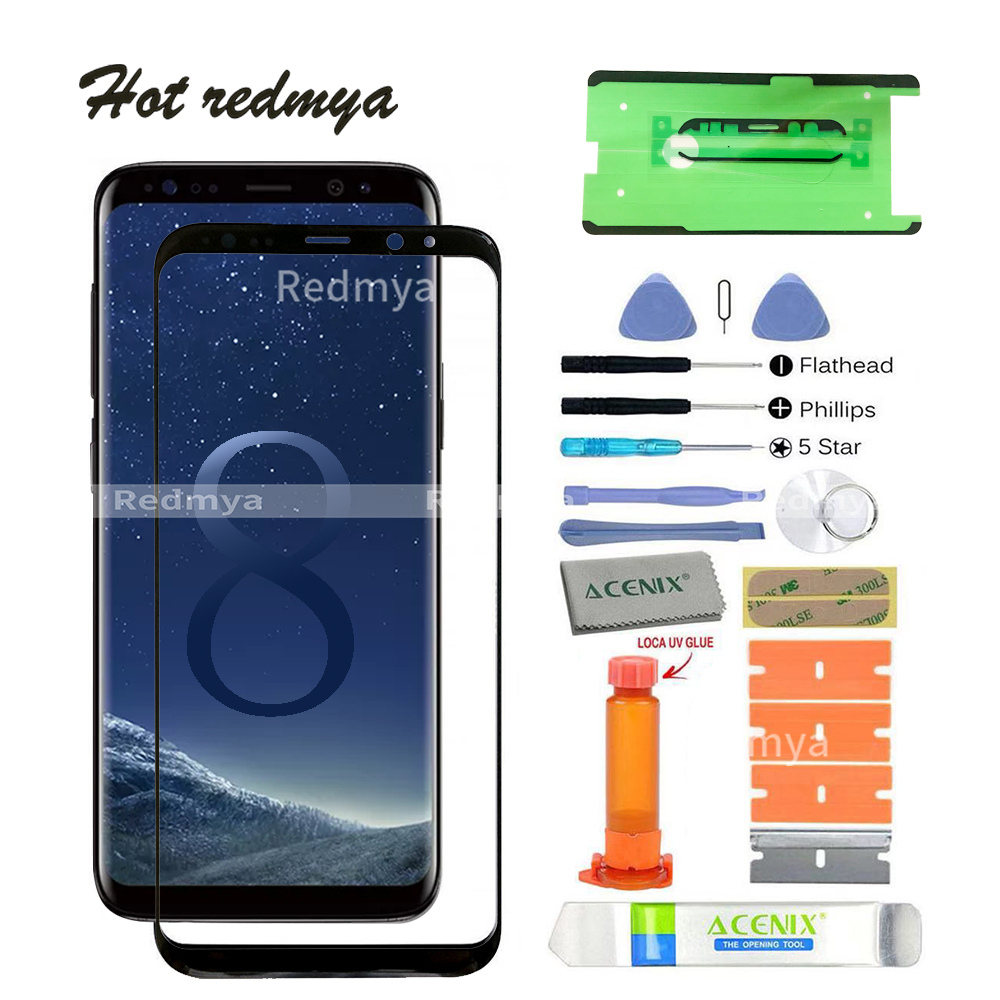 ecran s8 touch screen front glass For Samsung Galaxy S8 G950 5.8S8 Plus G955 6.2 LCD Outer Glass Lens+tools