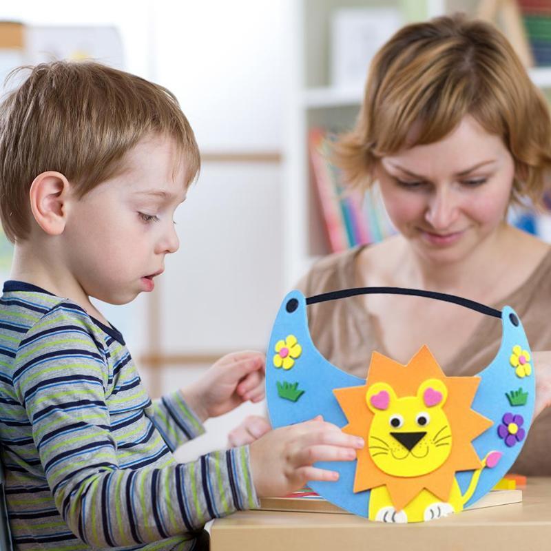 Creative Hat EVA DIY Cartoon Cap Beautiful Shape Child Kids Playability Practicality Gifts Kindergarten Puzzle Toy Random