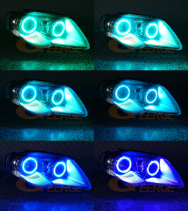 Image 5 - RF remote Bluetooth APP Multi Color RGB led angel eyes kit For Volkswagen VW Passat B6 Magotan 2005 2010 Xenon Headlight