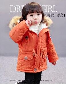 Image 4 - OLEKID 2020 סתיו חורף מעיל ילדה בתוספת קטיפה ברדס תינוק צמר מעיל 3 10 שנים ילד ילד הלבשה עליונה מעיל ילדי Parka