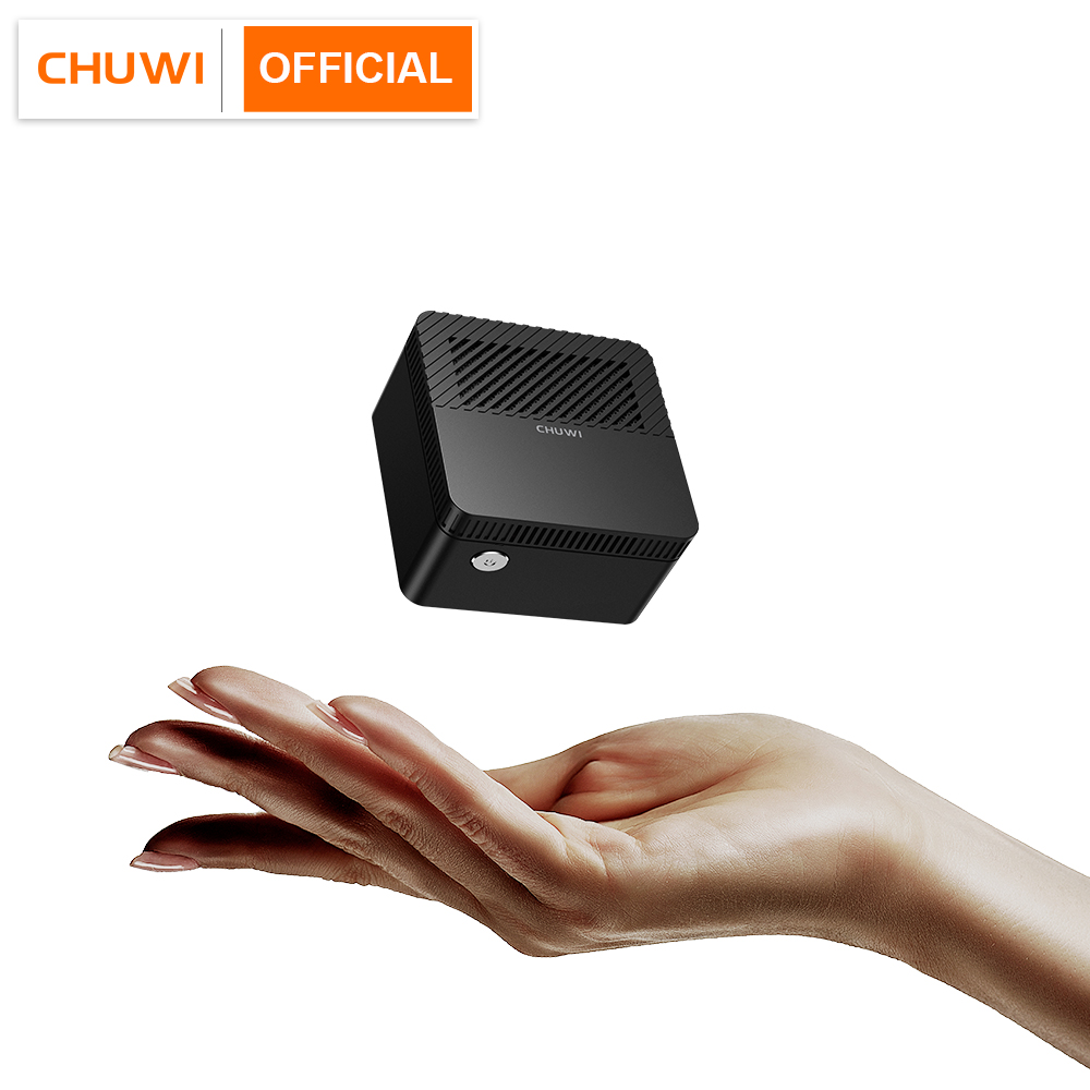 CHUWI LarkBox World's Smallest 4K Mini PC Intel Celeron J4115 Quad Core 6GB RAM 128GB ROM Windows 10 Desktop Computer HDMI USB-C 1