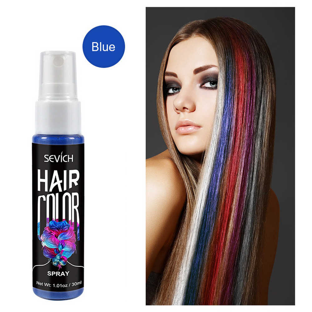 Sevich 30ml Temporary Spray Hair Dye Dye Unisex Hair Color Dye Red Grey Instant Color Dye Easy To Use Hair Styling Aliexpress