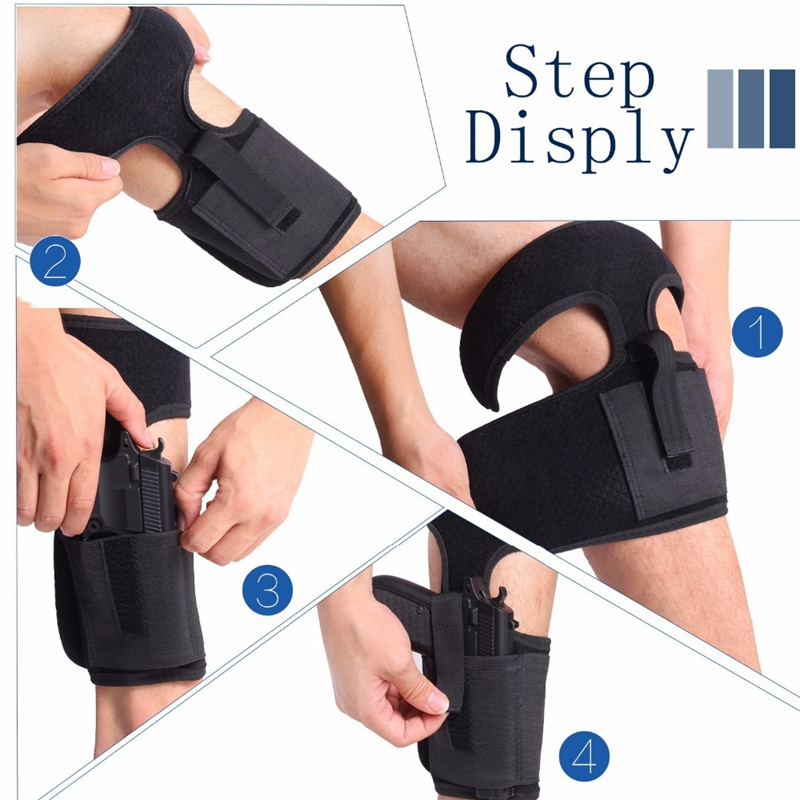 DiscountáAnkle-Holster Handgun-Pouch Revolvers Leg-Pocket Pistol Concealed-Carry Elastic for Secure
