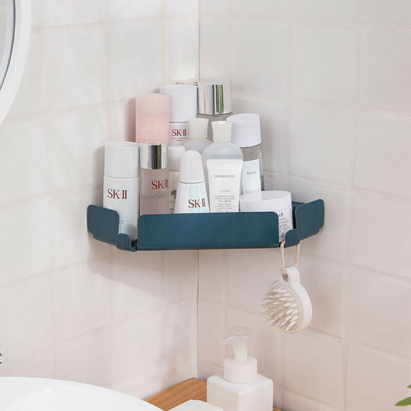 Bathroom Triangular Shower Caddy Shelf Corner Bath Rack Storage Holder Organizer