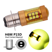 Gold Color H6M P15D LED Motorcycle Headlight Lamp 28 3030SMD H6M Motorcycle LED Fog Bulbs PX15D LED Motorbike Scooter Light -