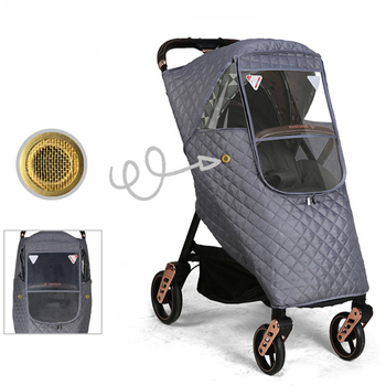 Universal Winter Thicken Stroller Pushchair Sunshade Rain Cover Wind Dust Shield Full Cover Baby Strollers Pushchairs Raincoat babyrule baby stroller accessories universal waterproof rain cover wind dust shield for strollers pushchairs stroller buggy