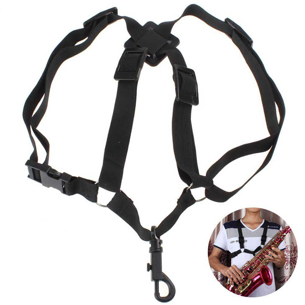 Adjustable Durable Nylon Universal Saxophone Sax Harness Shoulder Strap Belt For Alto/Tenor/Soprano Saxophone Parts Accessories