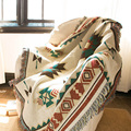Ethnic Bohemian Knitted Throw Blanket picnic camping Sofa Covers Slipcover High Quality blanket car Travel Plane Blanket MV13*