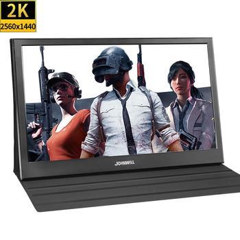 13.3 cala 2560x1440 przenośny Monitor pc dla PS4 Windows 7 8 10 Full HD LCD 2K HDMI IPS ekran Monitor gamingowy Ultra cienki wyświetlacz