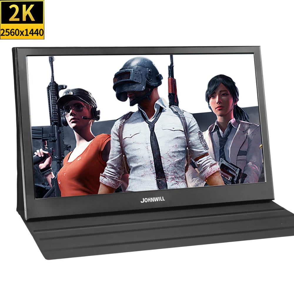13.3 pouces 2560x1440 Portable moniteur pc pour PS4 Windows 7 8 10 Full HD LCD 2K HDMI IPS écran de jeu moniteur Ultra mince affichage