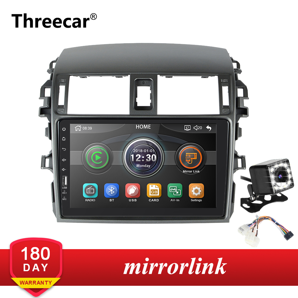 Mirrorlink iPhone Android 9.0 one din Radio Bluetooth Car <font><b>Multimedia</b></font> MP5 Player For <font><b>Toyota</b></font> <font><b>Corolla</b></font> E140/150 2008-2013 No Android image